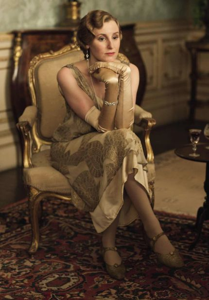 Downton Abbey Fashion | 20s Inspired Dresses | Period Costumes |Edith Downton Abbey Hair